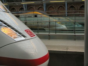 The Deutsche Bahn ICE Train Kommt