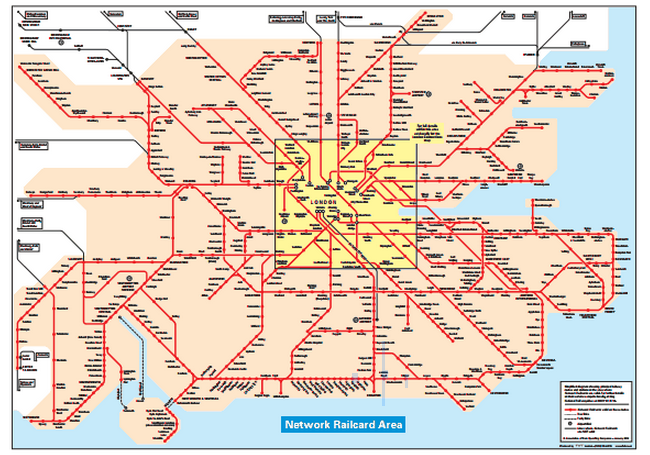 Network Rail Map