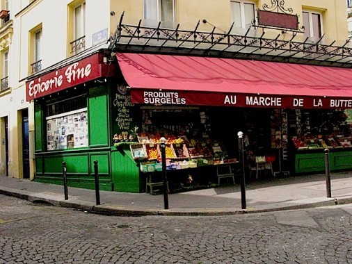 The vegetable shop from the film Amelie