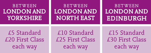 East Coast Fares from a fiver in January