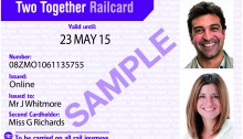 The Two Together Railcard March 3rd 2014 - courtesy of ATOC.
