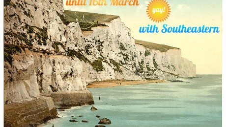 Cliffs of Dover Vintage Postcard Railsale