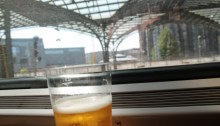 Dom beer on the Cologne to Hamburg train. © Sophie Collard