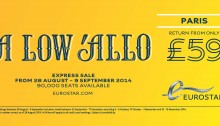September 2014 Eurostar tickets from £59. ©Eurostar