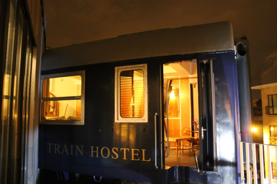 Train Hostel Suite Exterior. © Sophie Collard